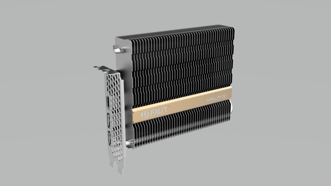 Lüfterlose Turing-Grafikkarte: GeForce GTX 1650 KalmX von Palit ist passiv gekühlt