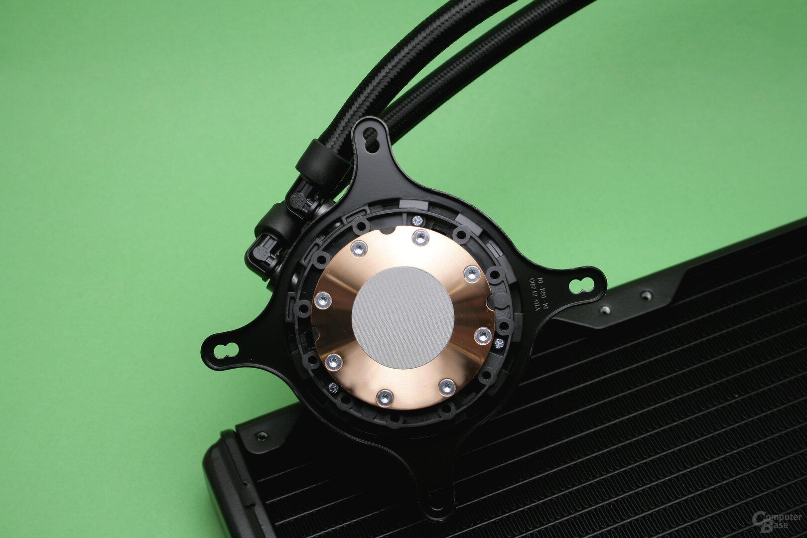 NZXT Kraken Z63: CPU-Auflagefläche der Kühler-/Pumpeneinheit