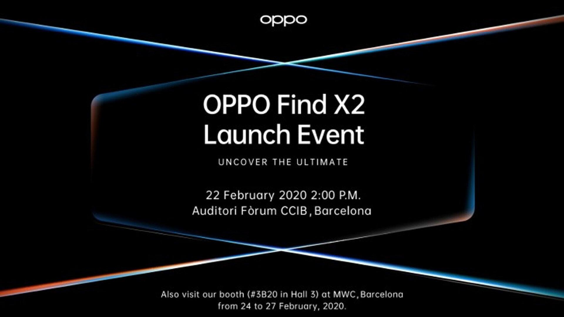 Ankündigung zum Oppo Find X2