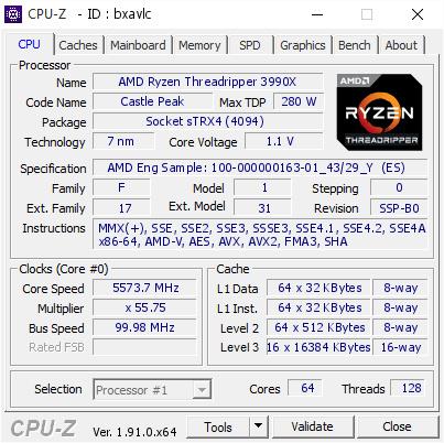 Der AMD Ryzen Threadripper mit fast 5,6 GHz auf allen Kernen