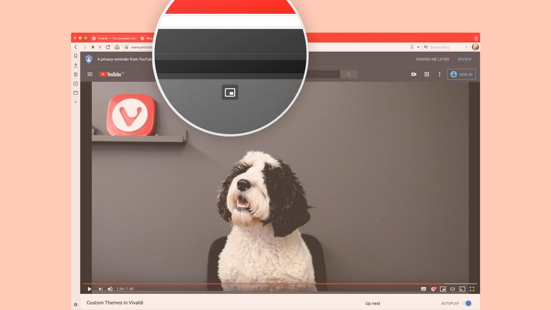 Der Bild-in-Bild-Modus für Videos lässt sich einfacher starten