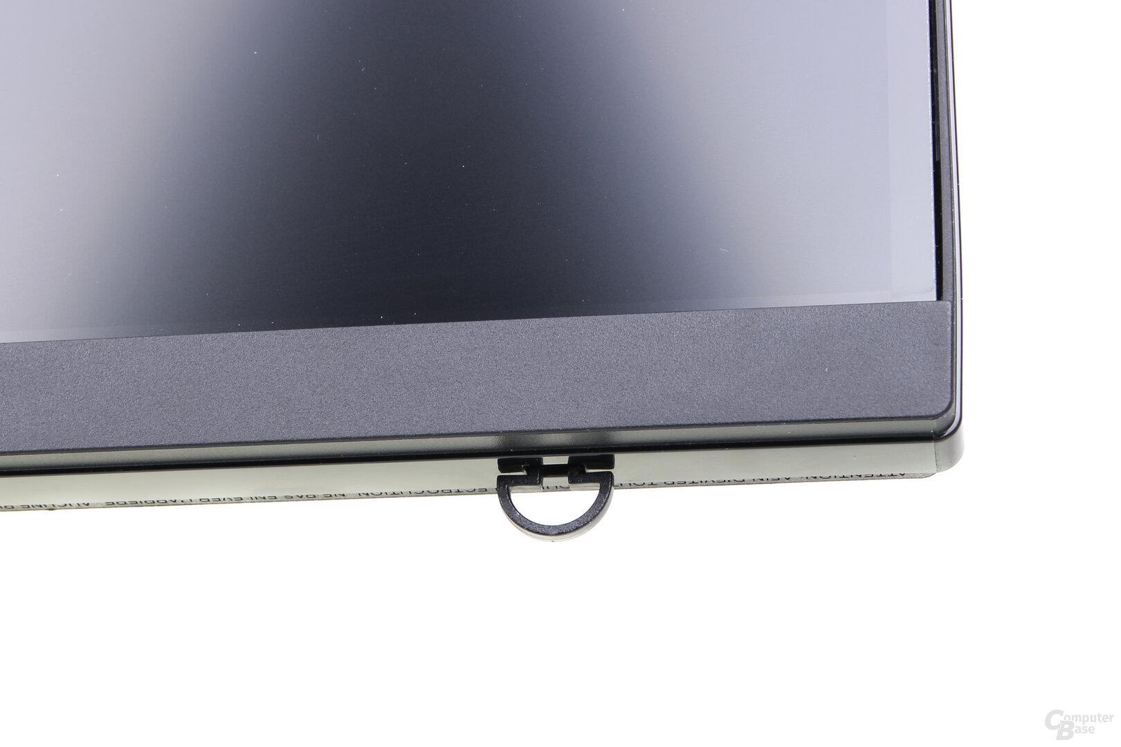 LG 27GL850-B: Kleine Klammer für das Mauskabel