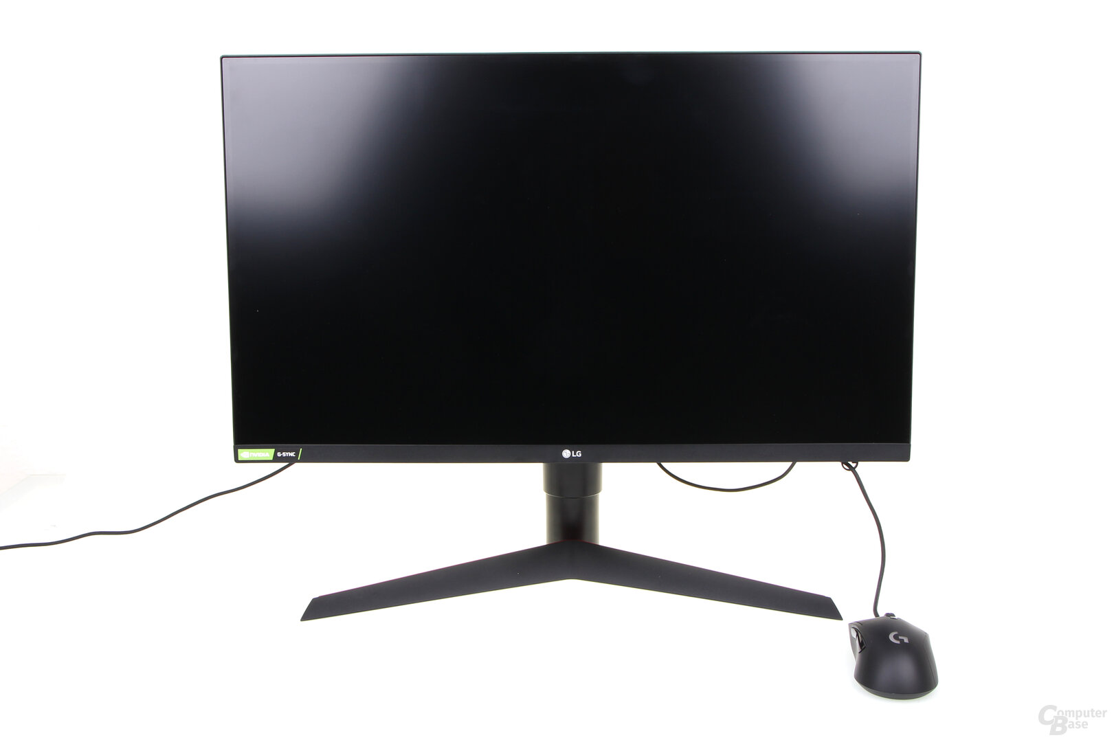 LG 27GL850-B mit Mouse-Bungee