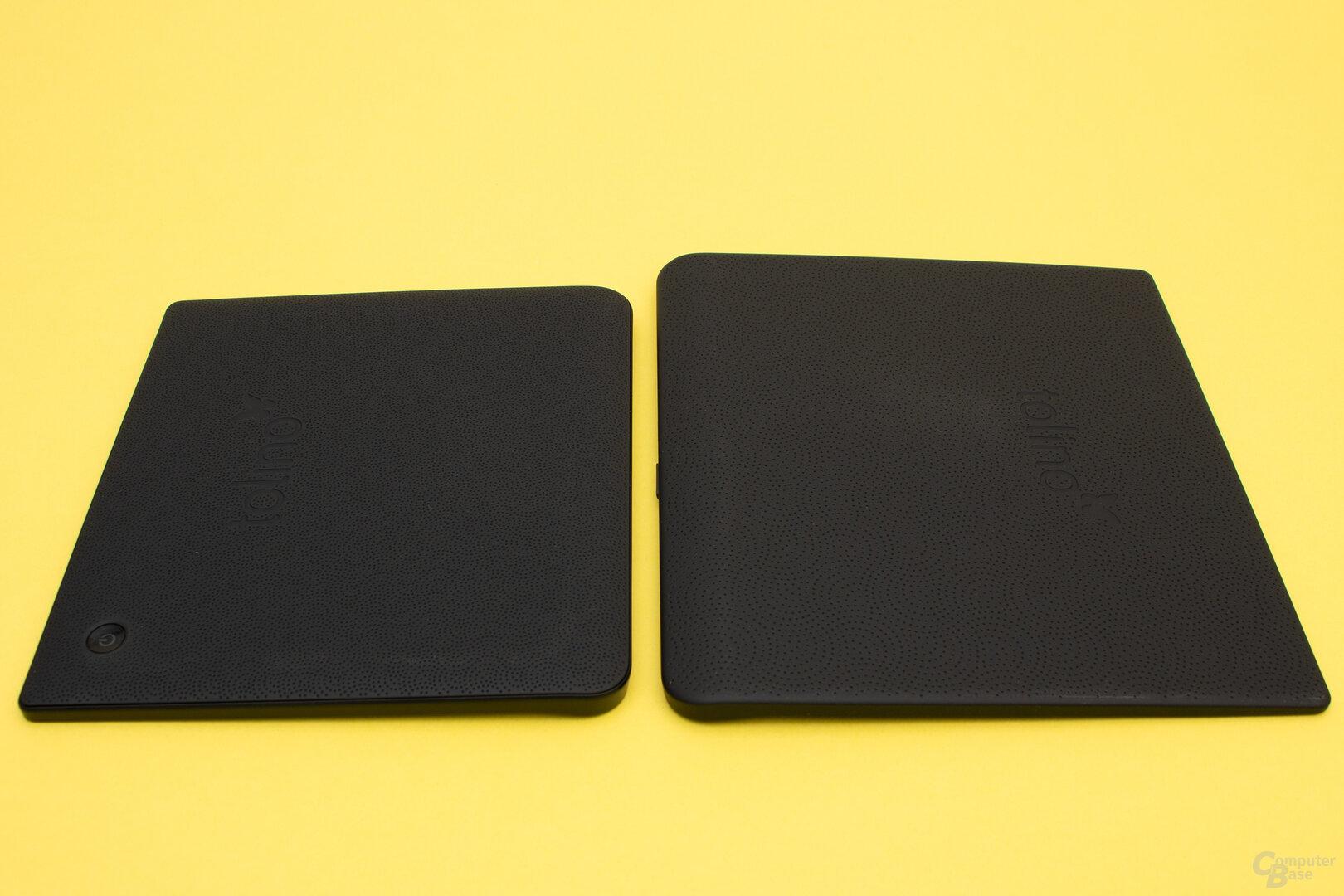 Der Epos 2 und der Vision 5 besitzen eine gummierte Rückseite