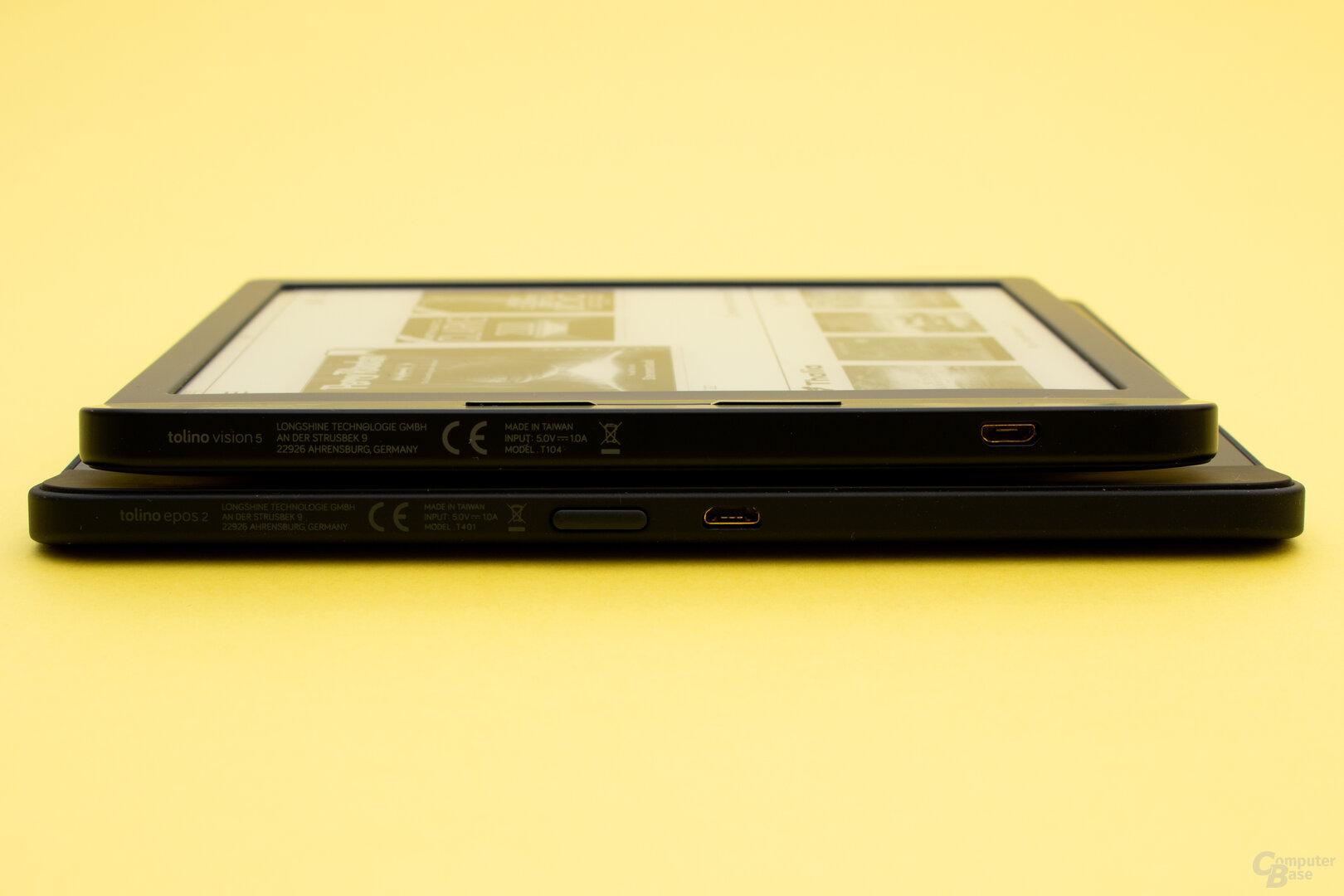 Beim Epos 2 und Vision 5 befinden sich die USB-Anschlüsse an der Seite