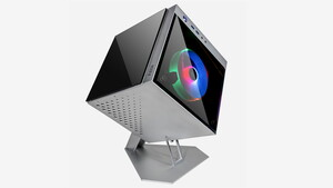 Gekippter Würfel: Linkworlds Cube 805 Mini ist ein ITX-Designgehäuse