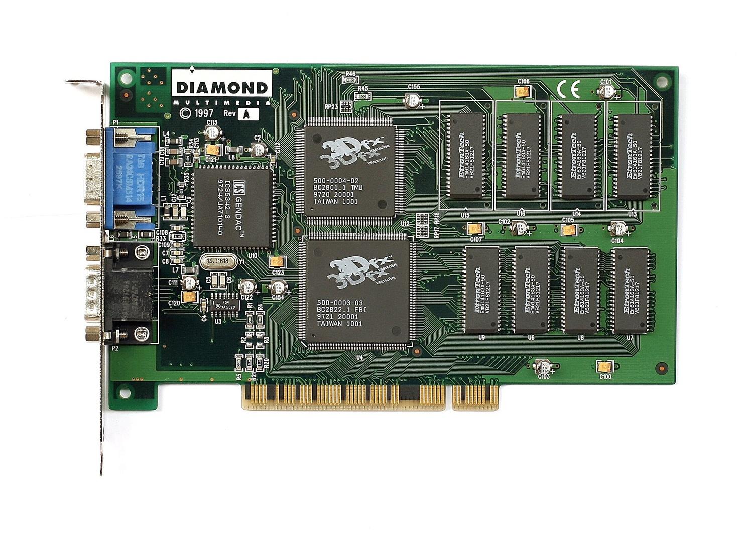 3dfx Voodoo und Nvidia Riva 128 standen in der Gunst der Spieler, die Voodoo 2 war vielen noch zu teuer