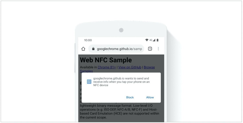 Google rückt Web-NFC mit Chrome 81 stärker in den Fokus