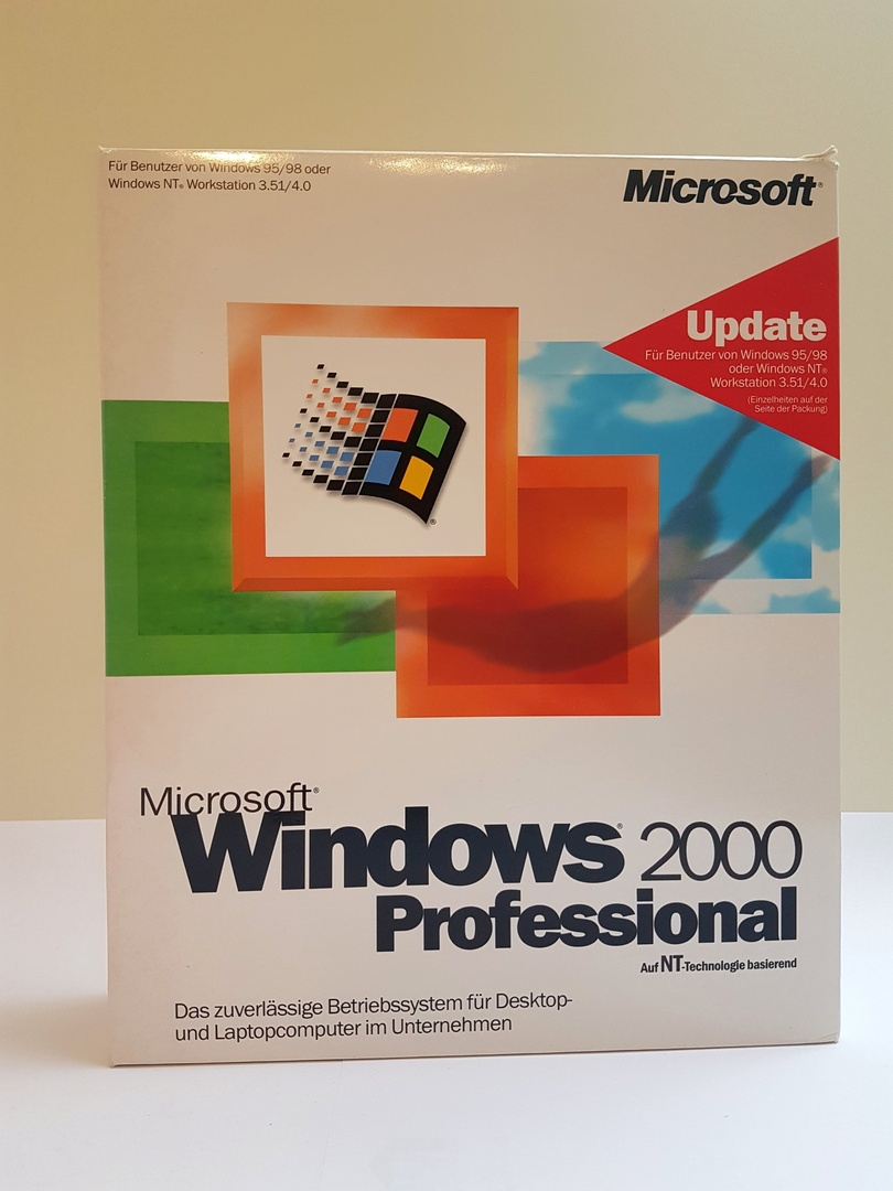 Windows 2000 Professional in der OEM-Verpackung