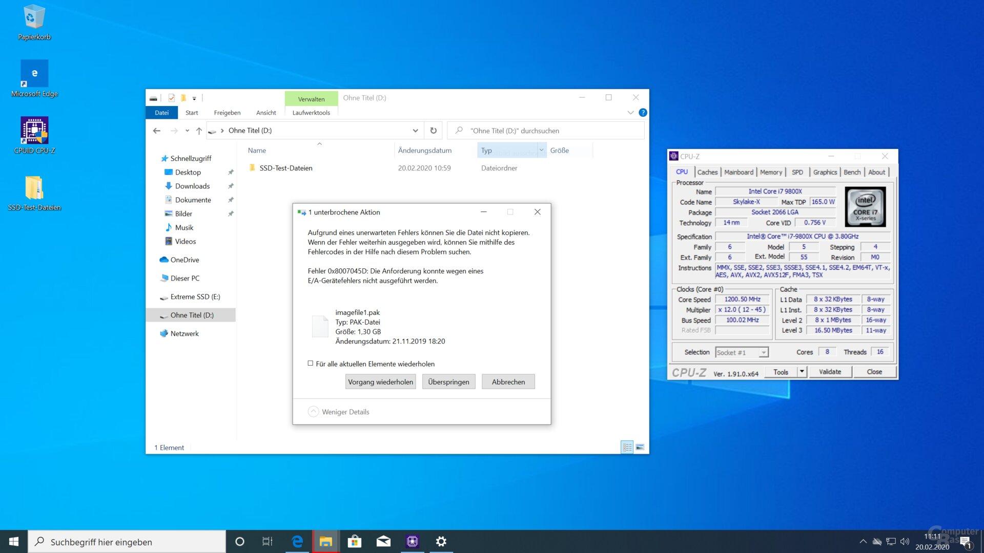 Der Wechsel auf Intels X299-Plattform bringt keine Besserung