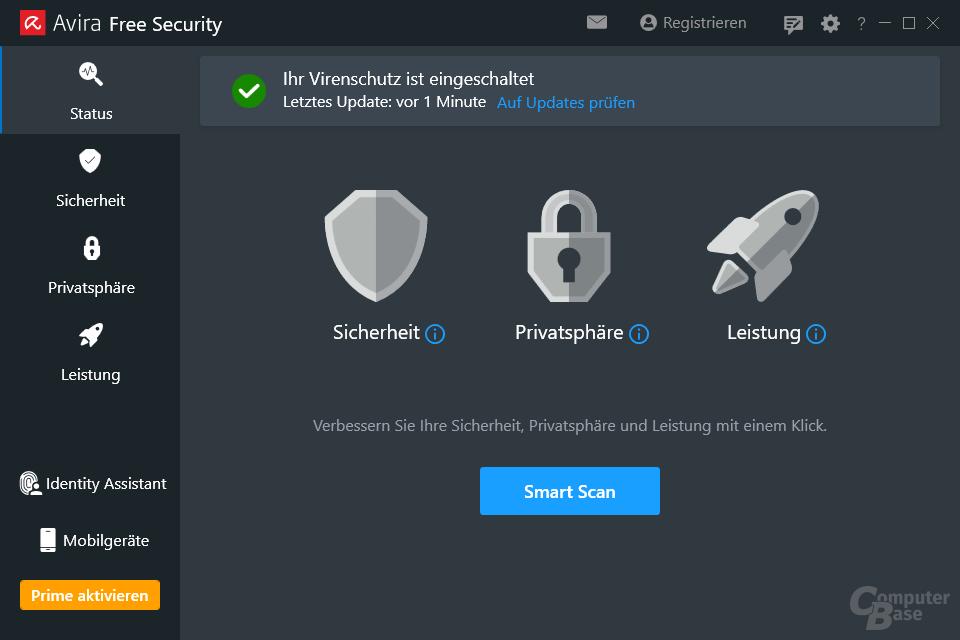 Avira Free Security – Oberfläche