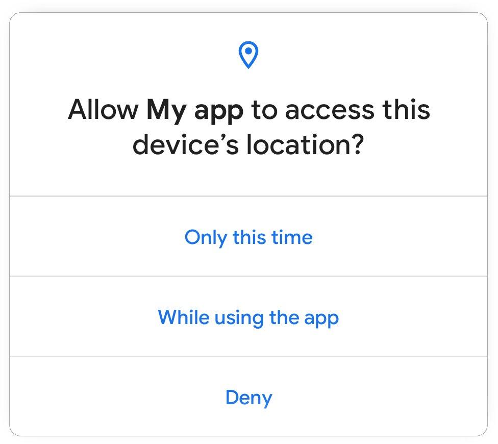 Einmalige Berechtigung in Android 11