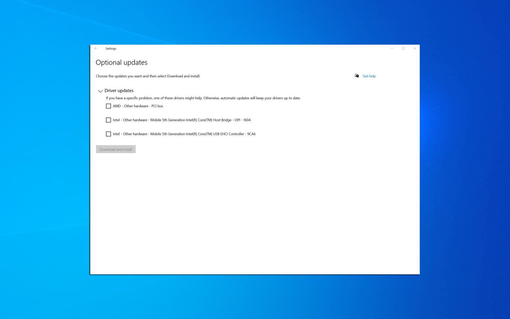 Ab Windows 10 2004 können Anwender Treiber optional per Windows Update beziehen