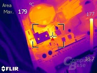 Phanteks AMP P550G – Volllast ohne aktive Kühlung (Sekundärseite)