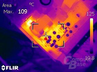 Super Flower Leadex III Gold 550W – Volllast ohne aktive Kühlung (Sekundärseite)