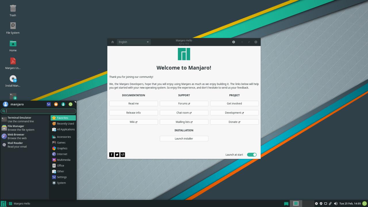 """Manjaro Linux 19.0 (""""Kyria""""): Beliebtes Rolling Release mit frischen Softwarepaketen"""