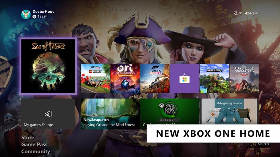 Das neue Dashboard der Xbox One ist aufgeräumter als sein Vorgänger