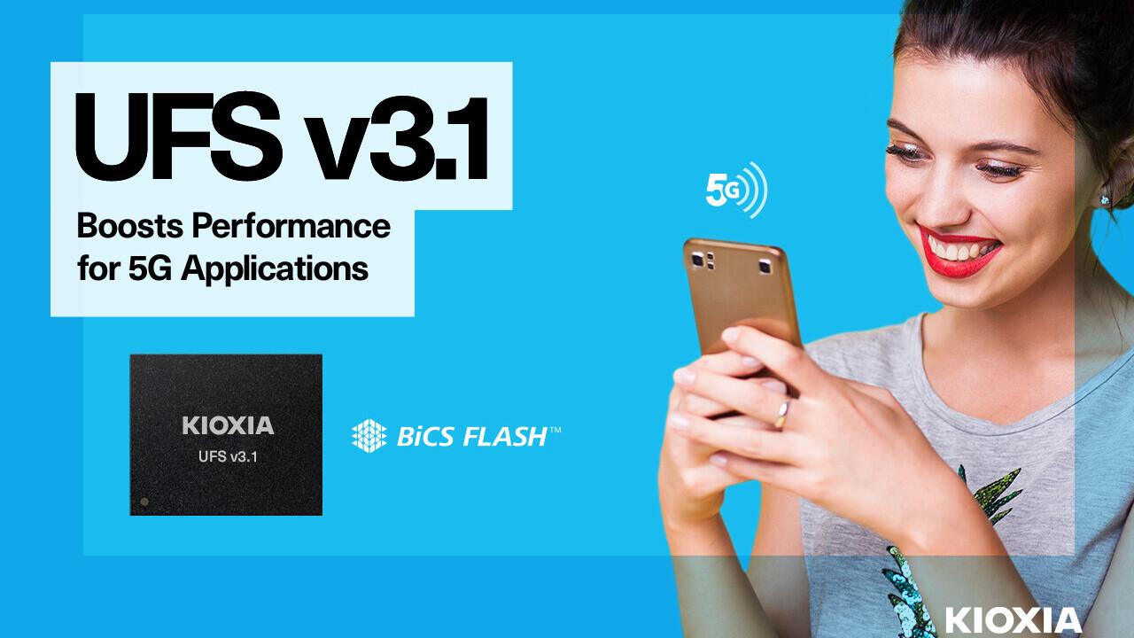 Kioxia UFS 3.1: 1 TB schnellerer Smartphone-Speicher auf 11,5 × 13 mm