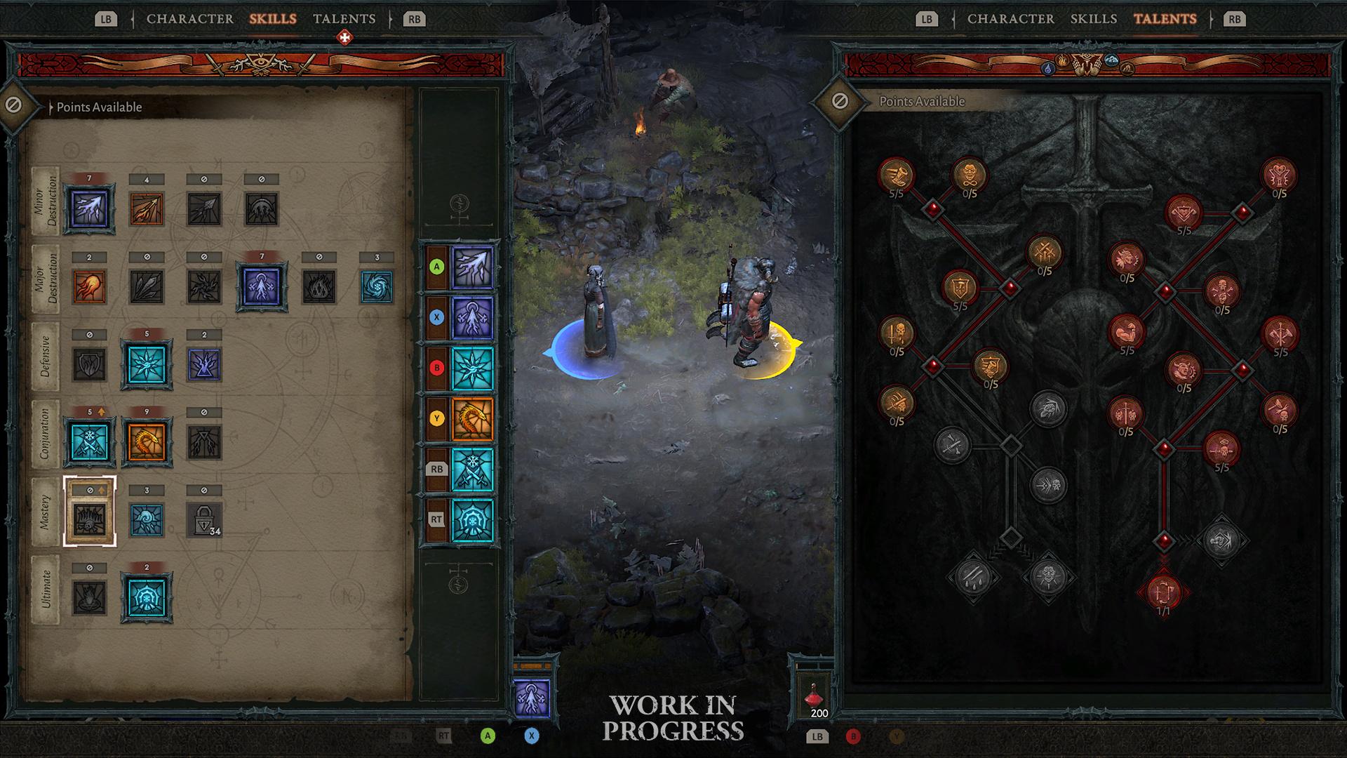 Spieler können das Interface im Koop-Modus unabhängig voneinander bedienen