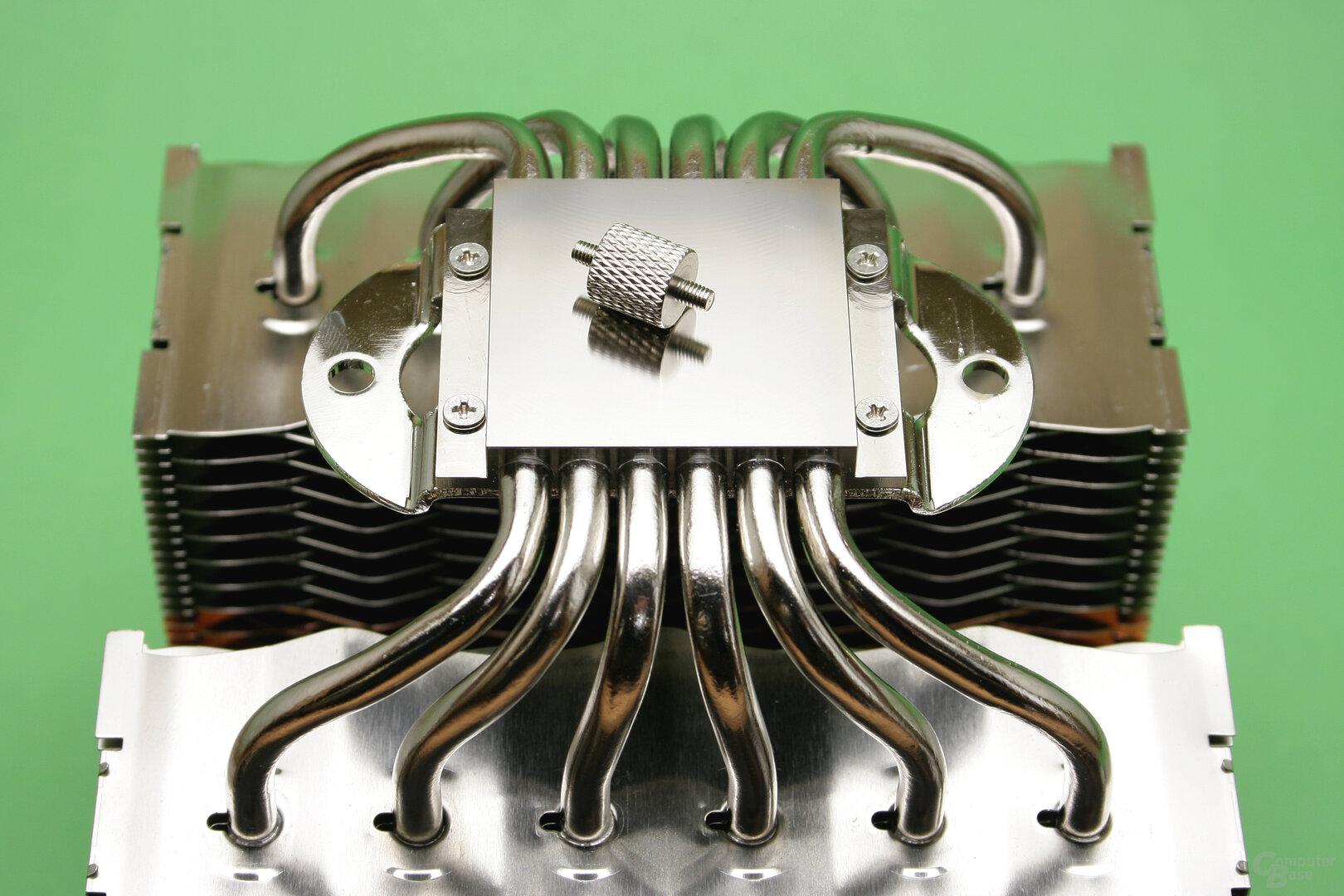 Zalman CNPS20X: Vernickelte CPU-Auflagefläche
