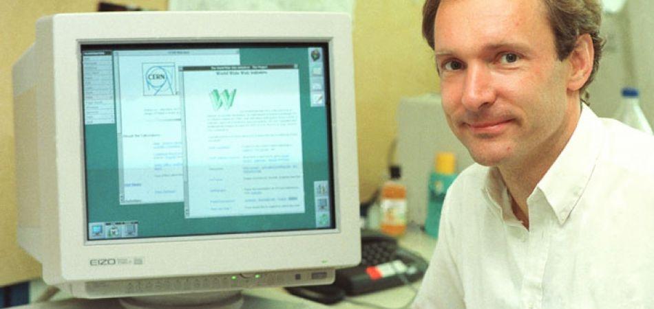 Tim Berners-Lee präsentiert die erste Website der Welt