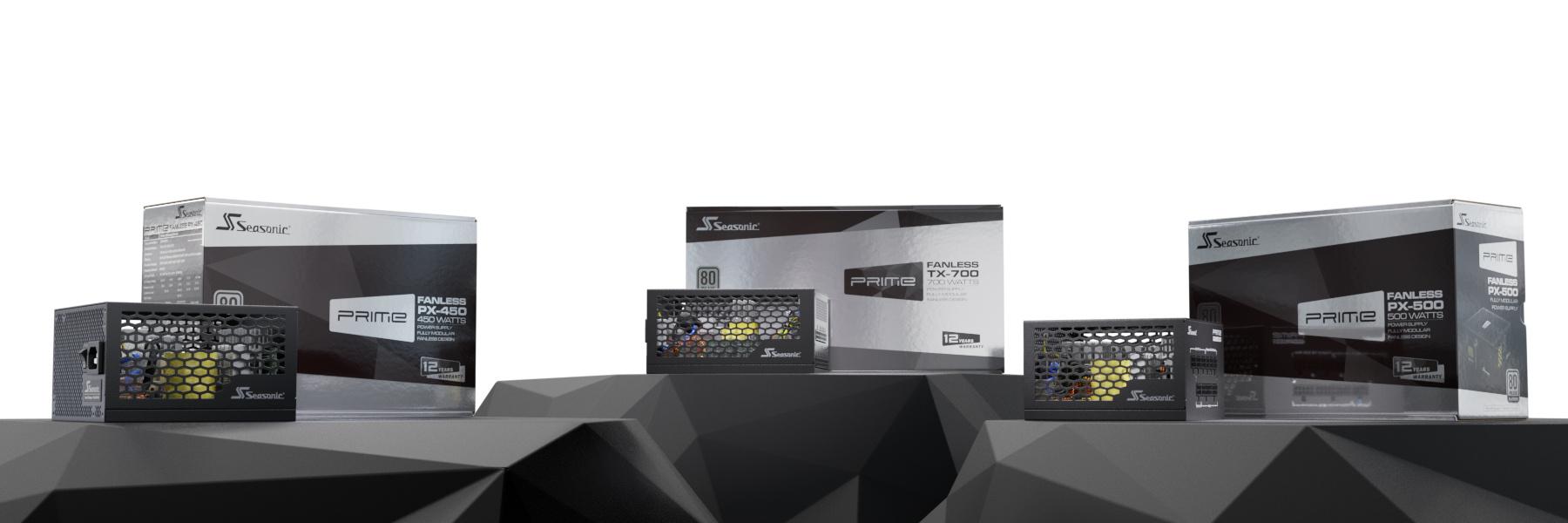 Die drei neuen Modelle der Serien Prime Fanless PX und Prime Fanless TX