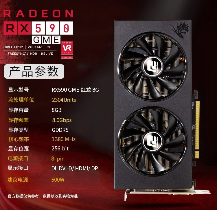 PowerColor RX 590 GME mit 1.380 MHz