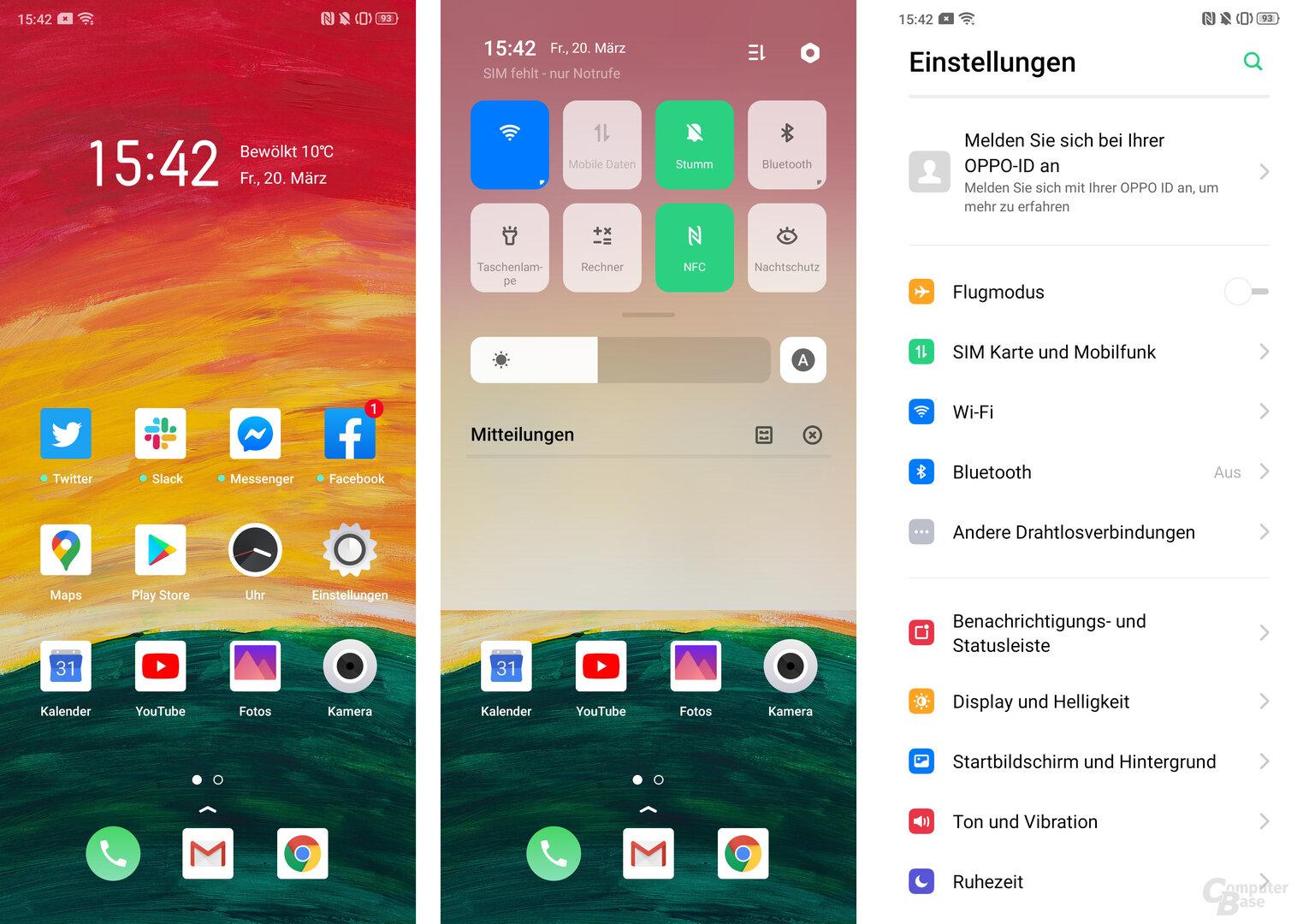 ColorOS 6.1 auf Basis von Android 9.0 Pie