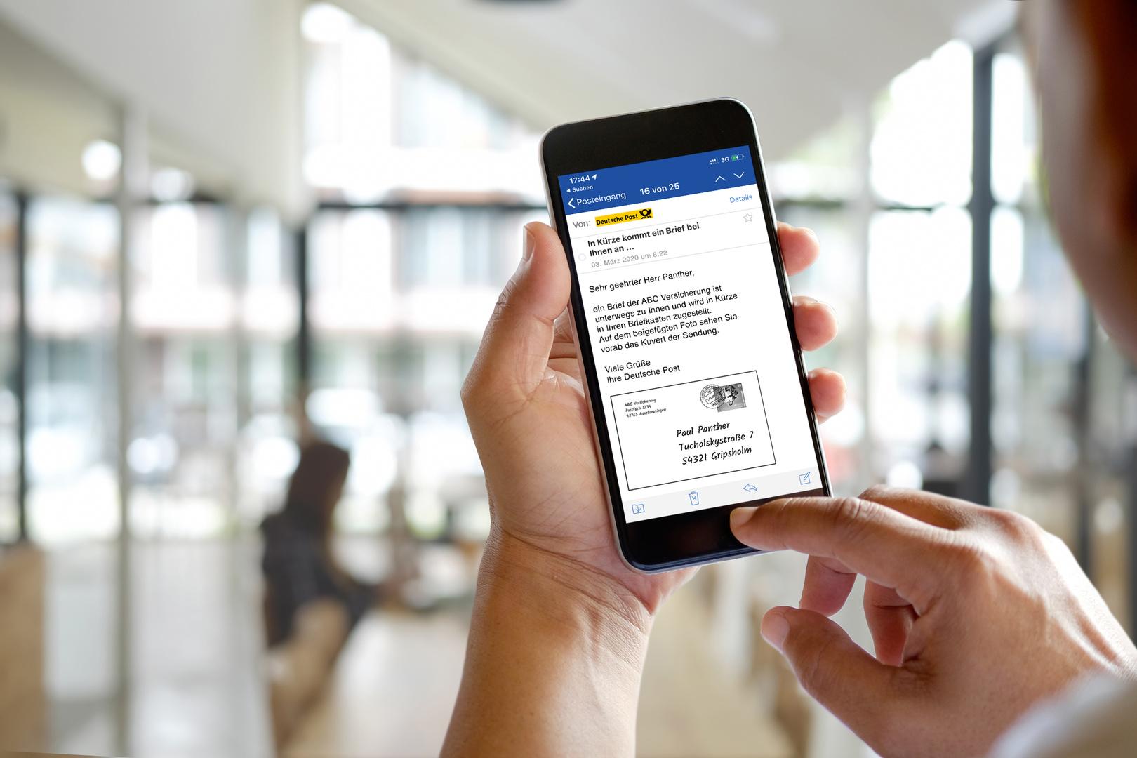 Die mobile Briefankündigung ist ein Kooperationsprojekt der Deutschen Post, GMX und WEB.DE