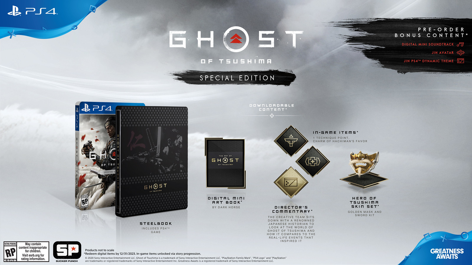 Ghost of Tsushima erscheint als Special-, Collector's und Digital Deluxe Edition exklusiv für PlayStation 4