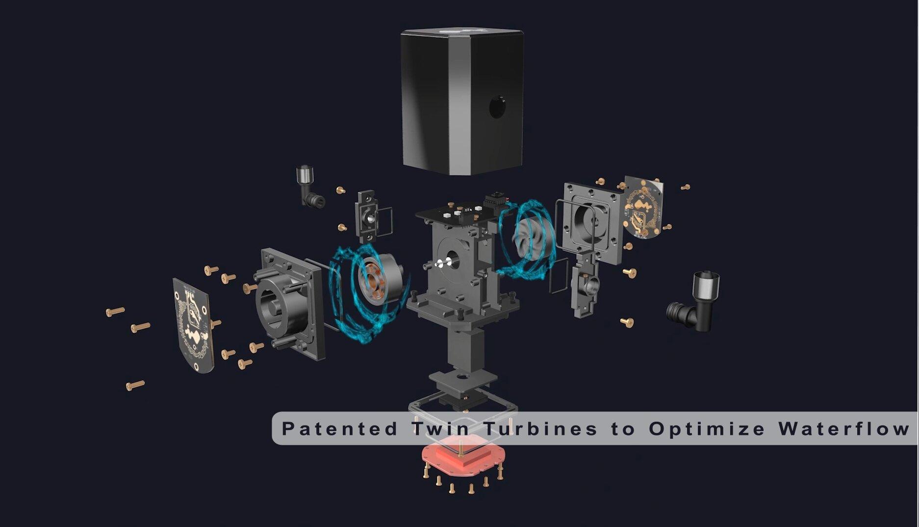 In Win SR24 - AiO-Kompaktwasserkühlung mit zwei Turbinen in der Pumpeneinheit