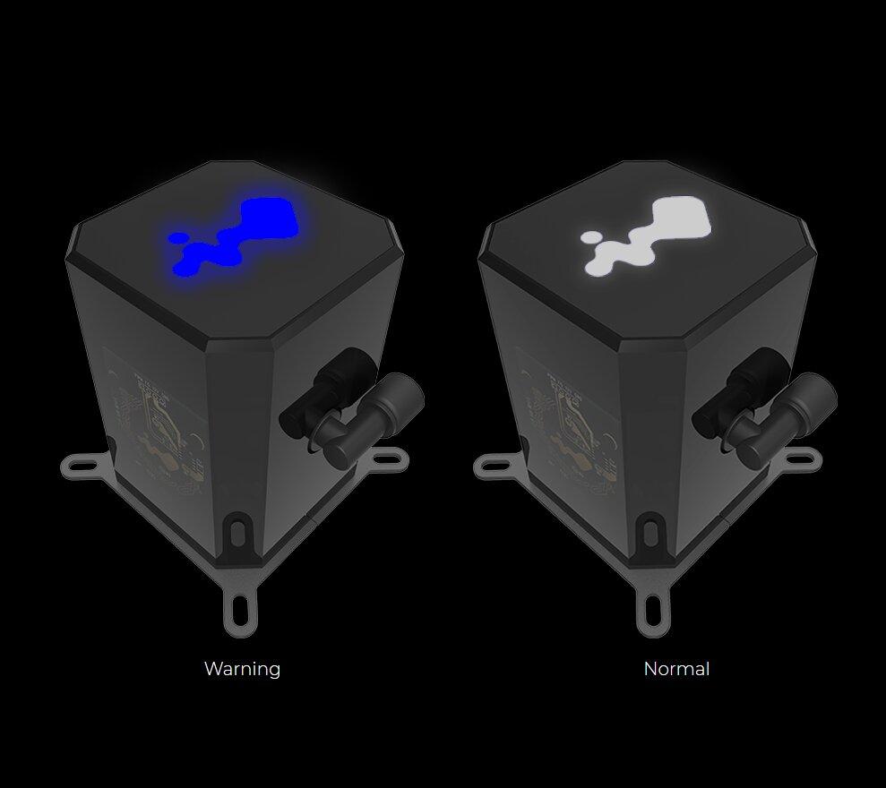 In Win SR24 - bunt leuchtendes Hersteller-Logo bei erkannten Problemen
