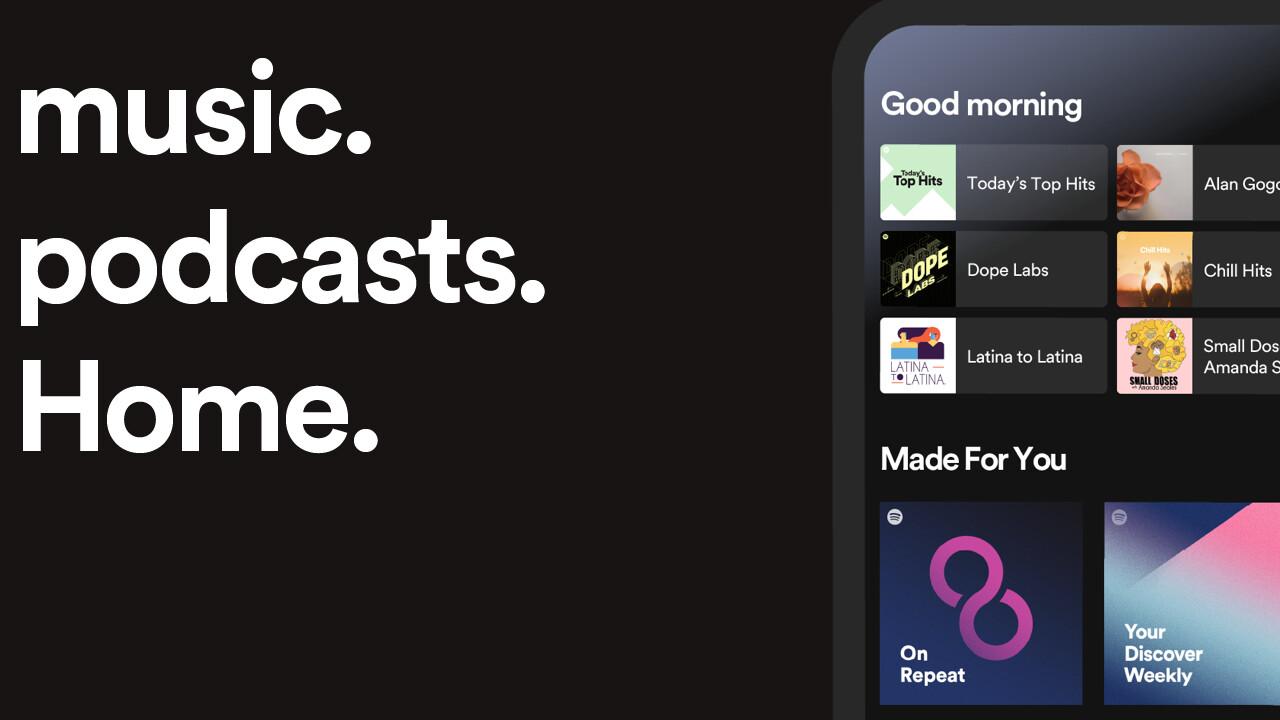 Spotify: App für Android und iOS mit neuem Home Screen