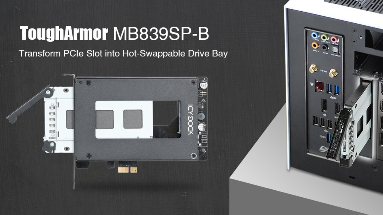 PCI-Express-Adapter: Einbaurahmen für 2,5-Zoll-Laufwerke kann Hot Swap