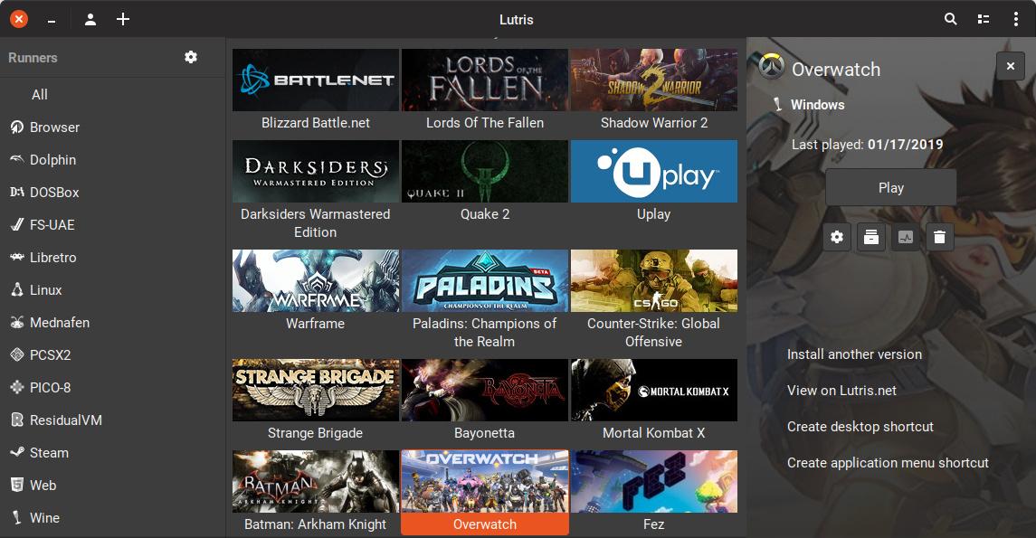 Über Lutris macht Drauger OS 7.5.1 viele bekannte Spiele auch unter Linux zugänglich
