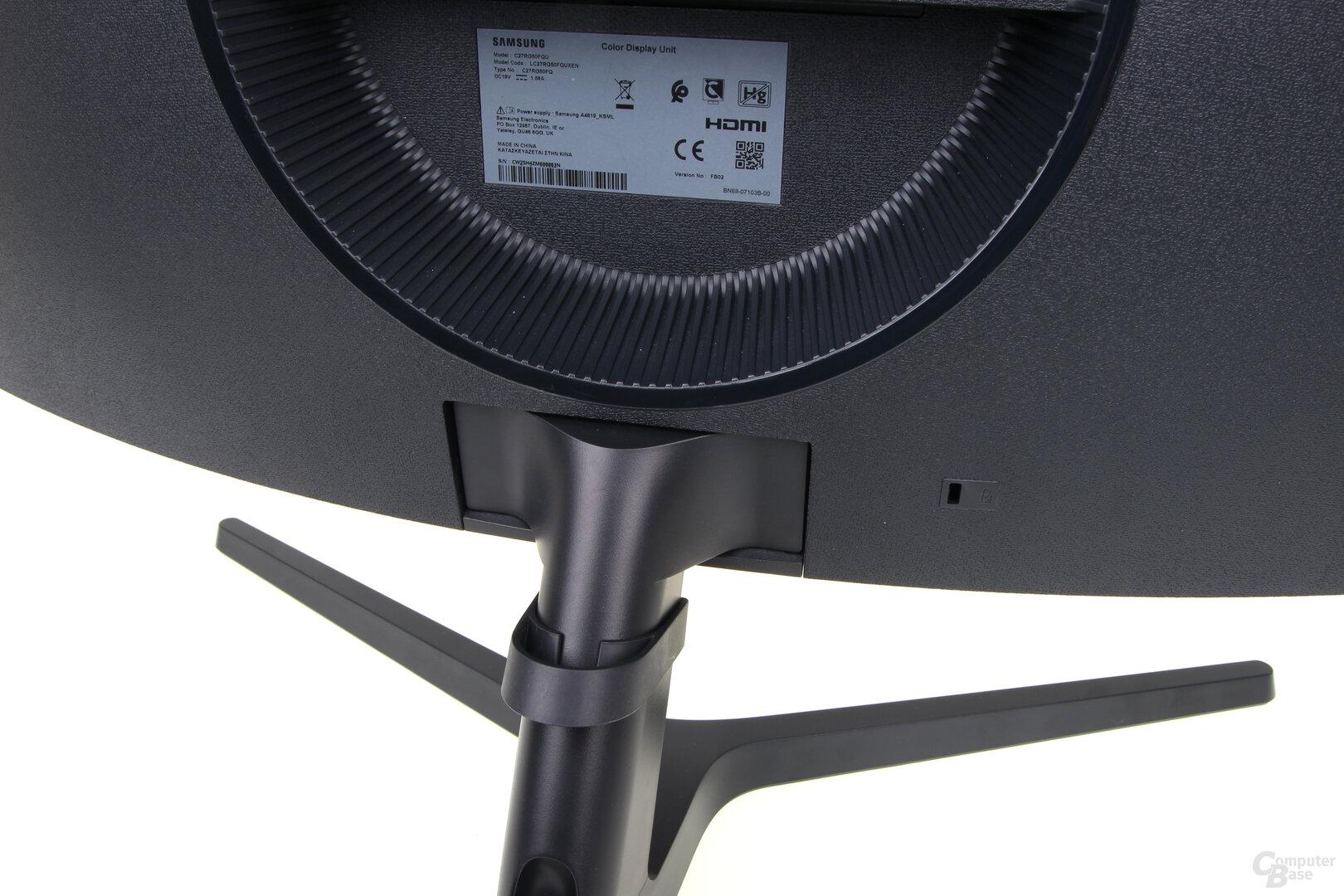 Samsung C27RG50: Standfuß rastet nicht ein
