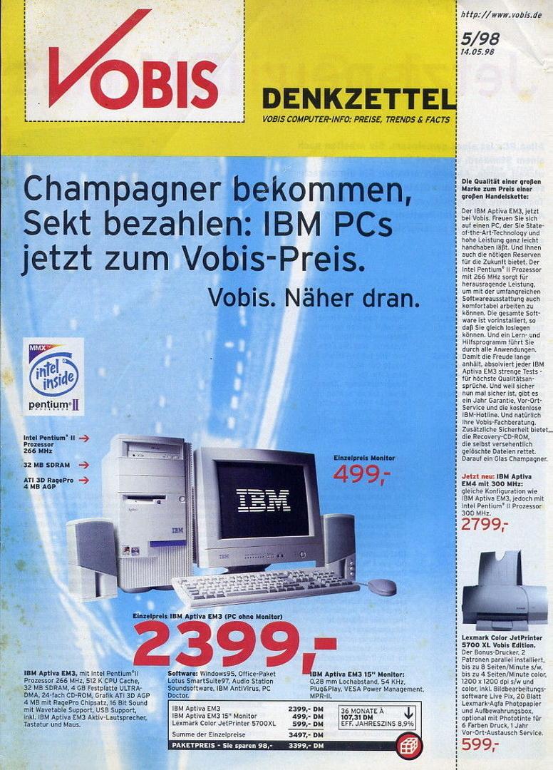"""""""Mr.Zweig"""" besaß einen IBM Aptiva (1998) mit Pentium II 300"""
