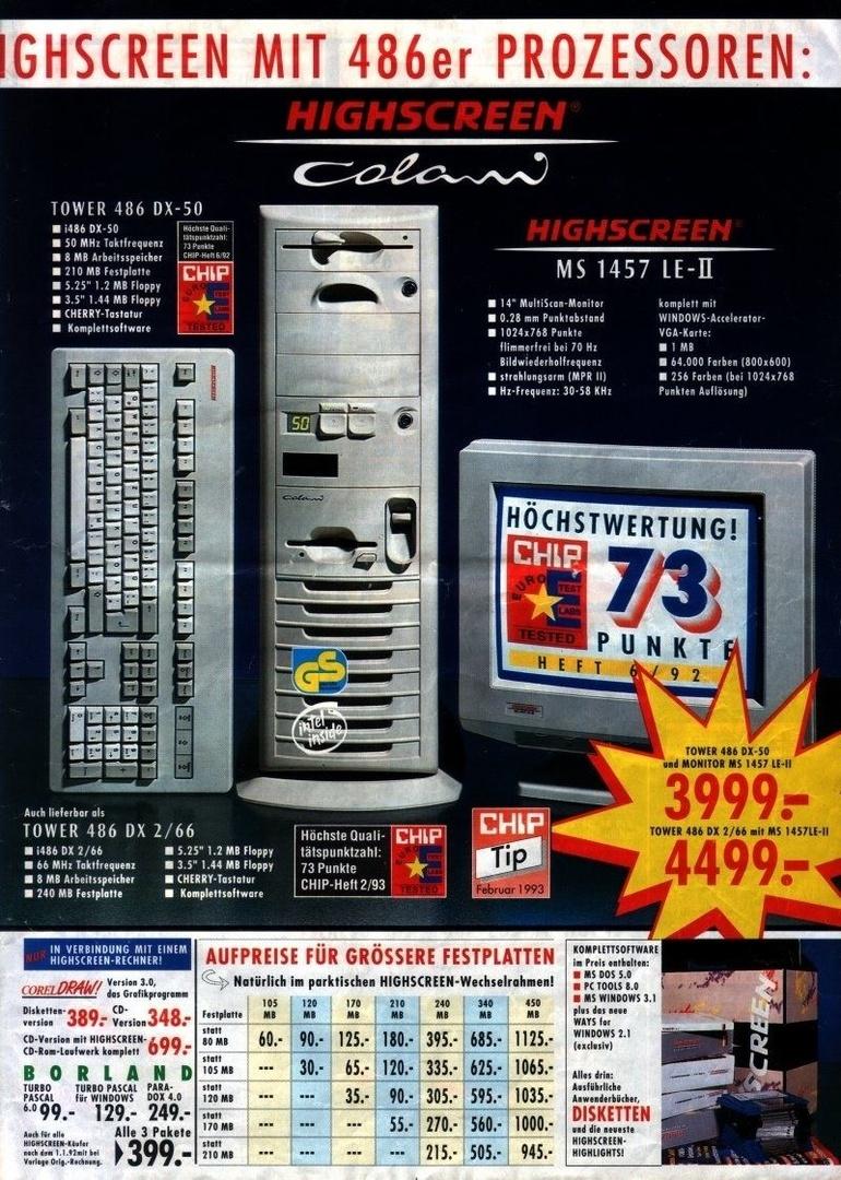 """Community-Mitglied """"herdware"""" besaß einen Vobis Highscreen Colani mit 486 DX-50"""