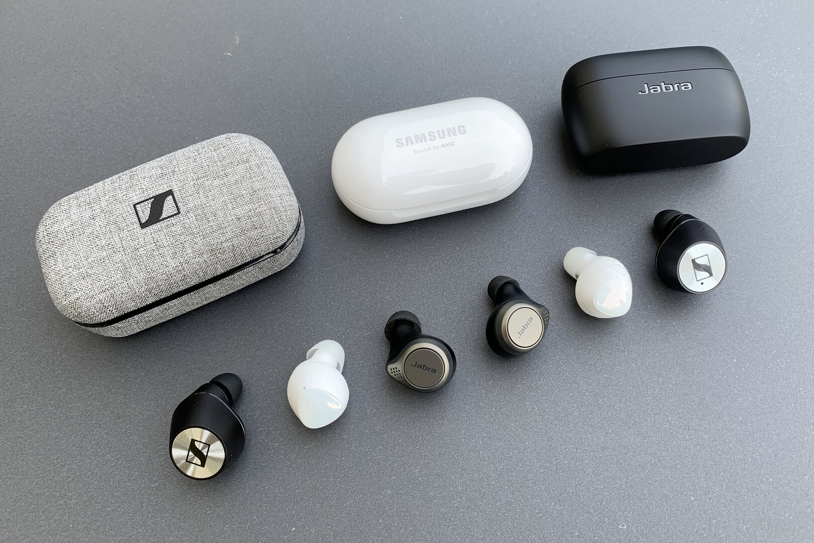 Samsung Galaxy Buds+, Sennheiser Momentum True Wireless und Jabra Elite 75t