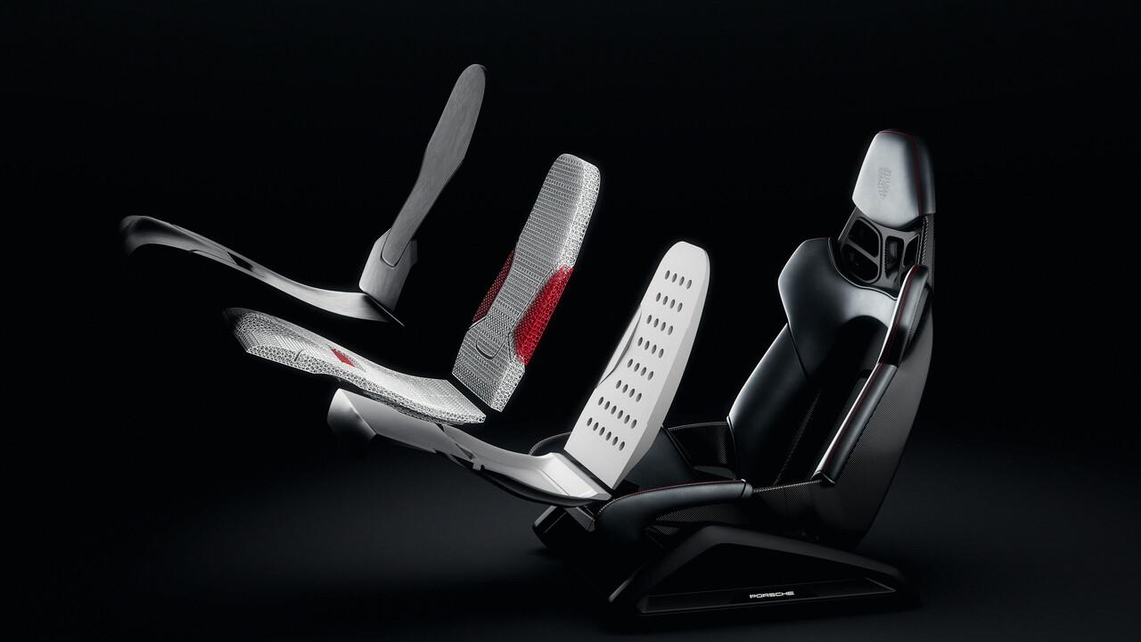 Porsche: Sportwagenhersteller zeigt Sitz aus dem 3D-Drucker