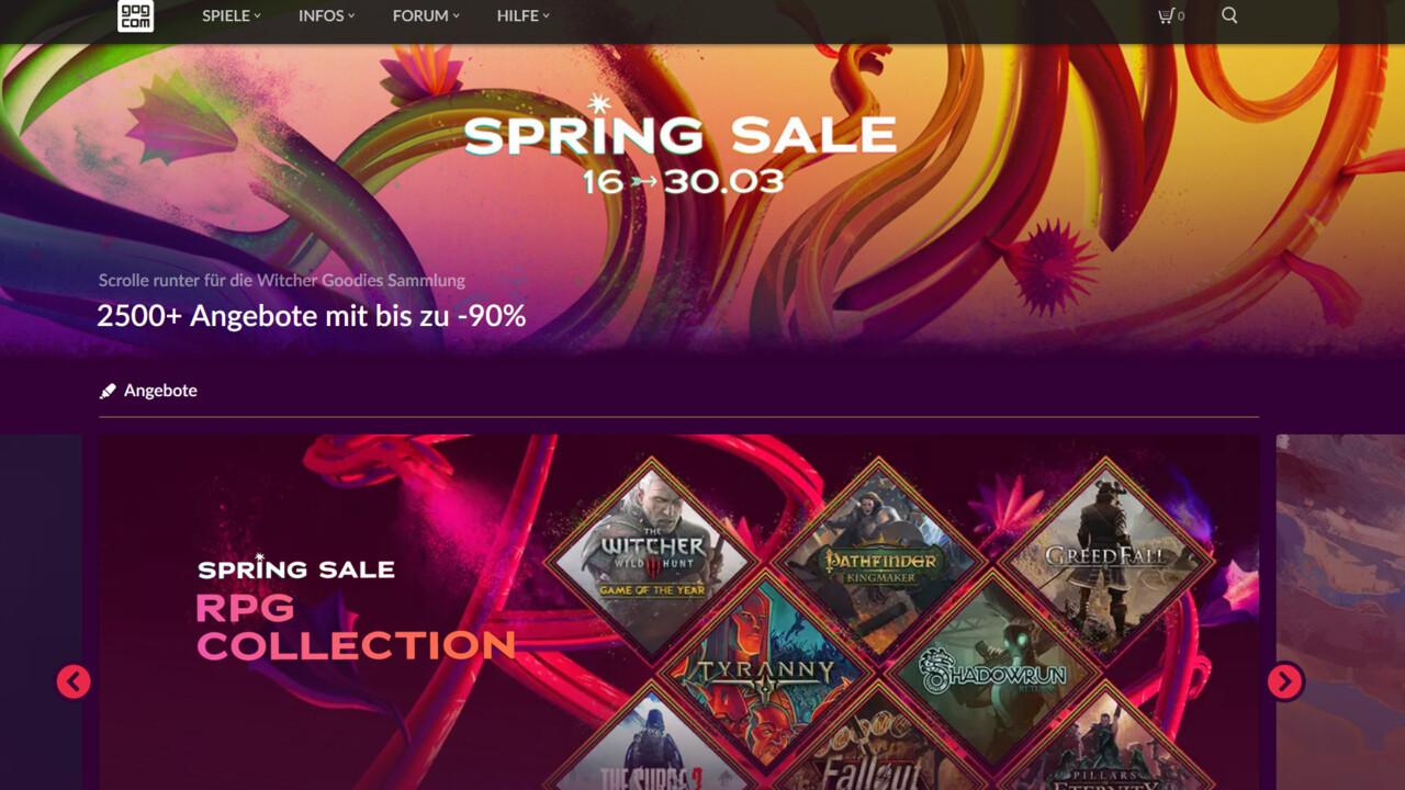 GOG.com: Gratisspiele, Witcher-Goodies und Frühlingsangebote