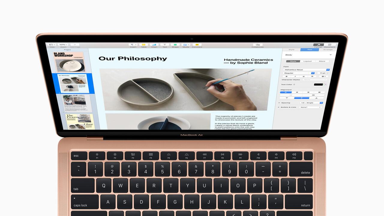 Apple MacBook Air 2020: Neue Tastatur, 256GB und Ice Lake-Y zum niedrigeren Preis