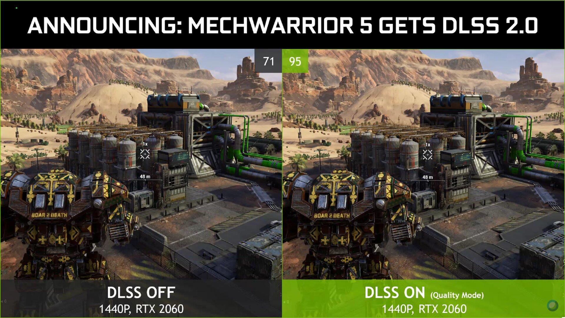 MechWarrior 5 mit DLSS 2.0