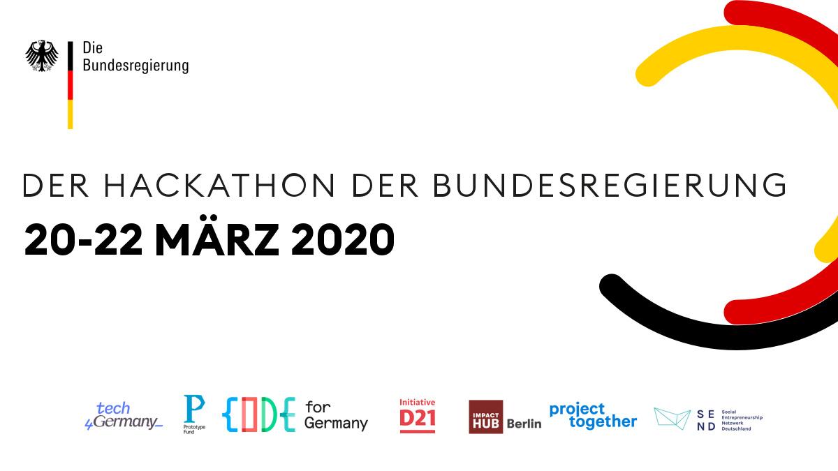 Der Hackathon der Bundesregierung findet vom 20. – 22. März statt