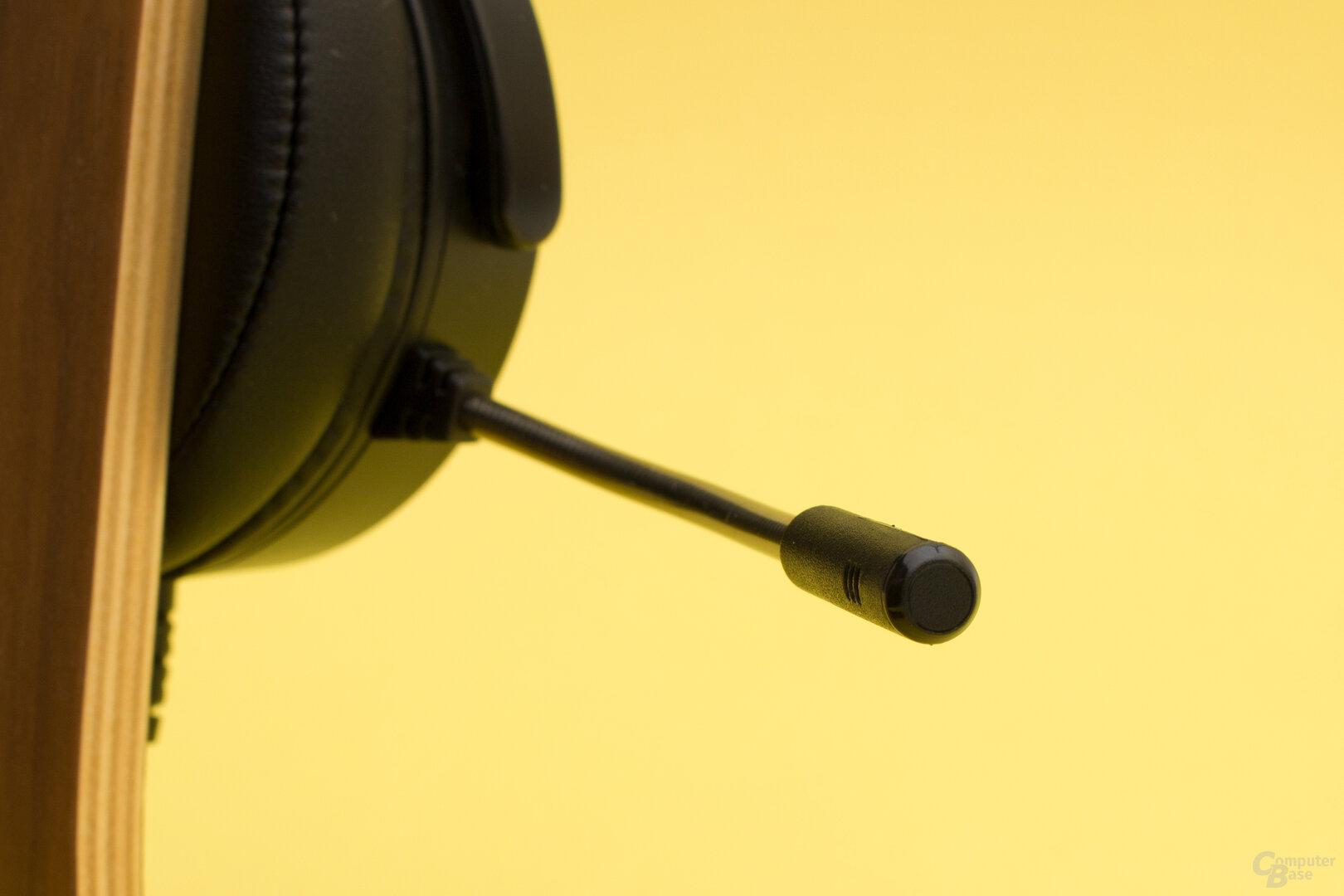 Das Mikrofon des Orios klingt etwas dumpf, ist aber weniger anfällig für Störgeräusche