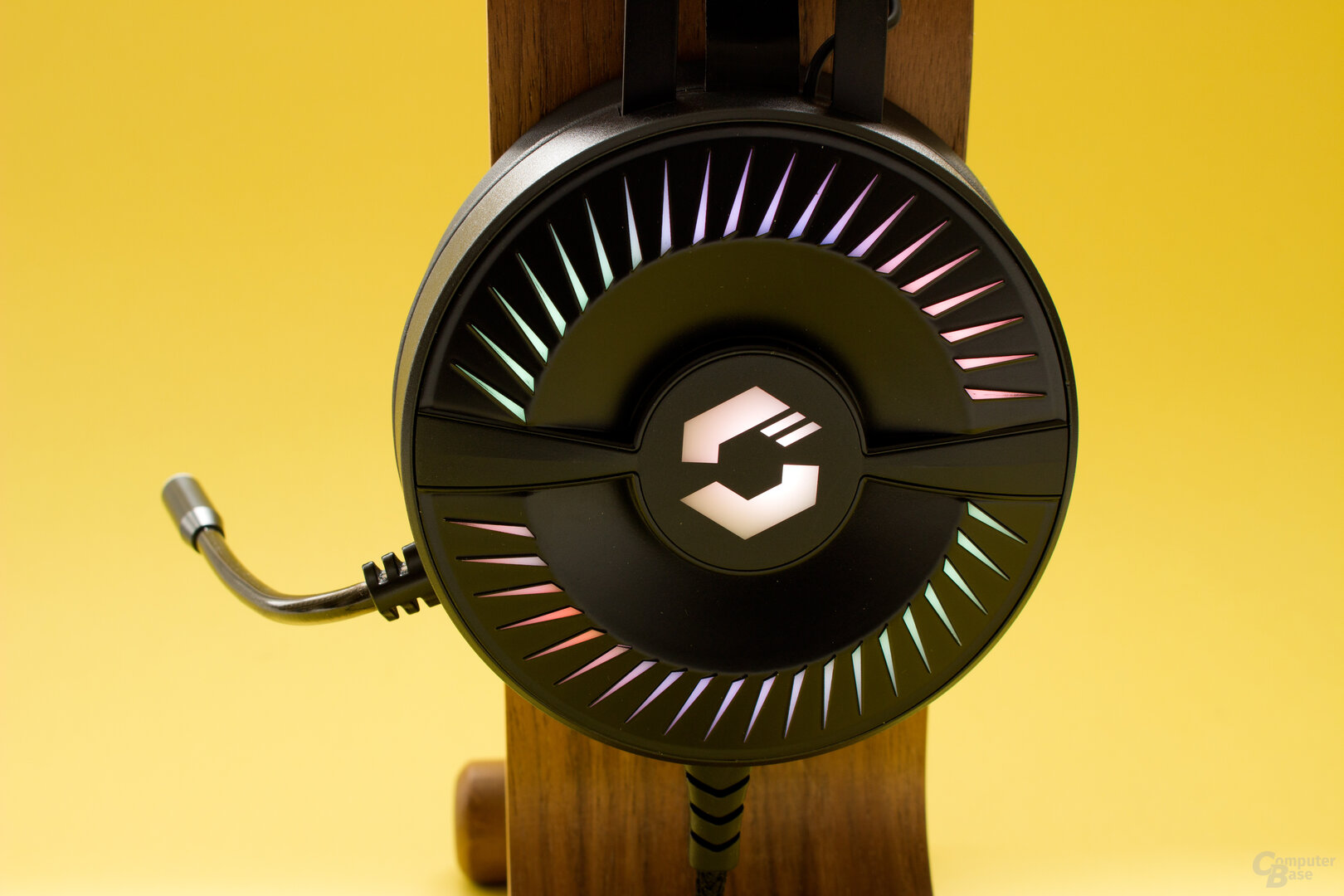 Die LED-Beleuchtung beim Speedlink Quyre
