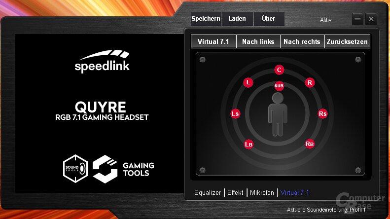 Die Software des Speedlink Quyre