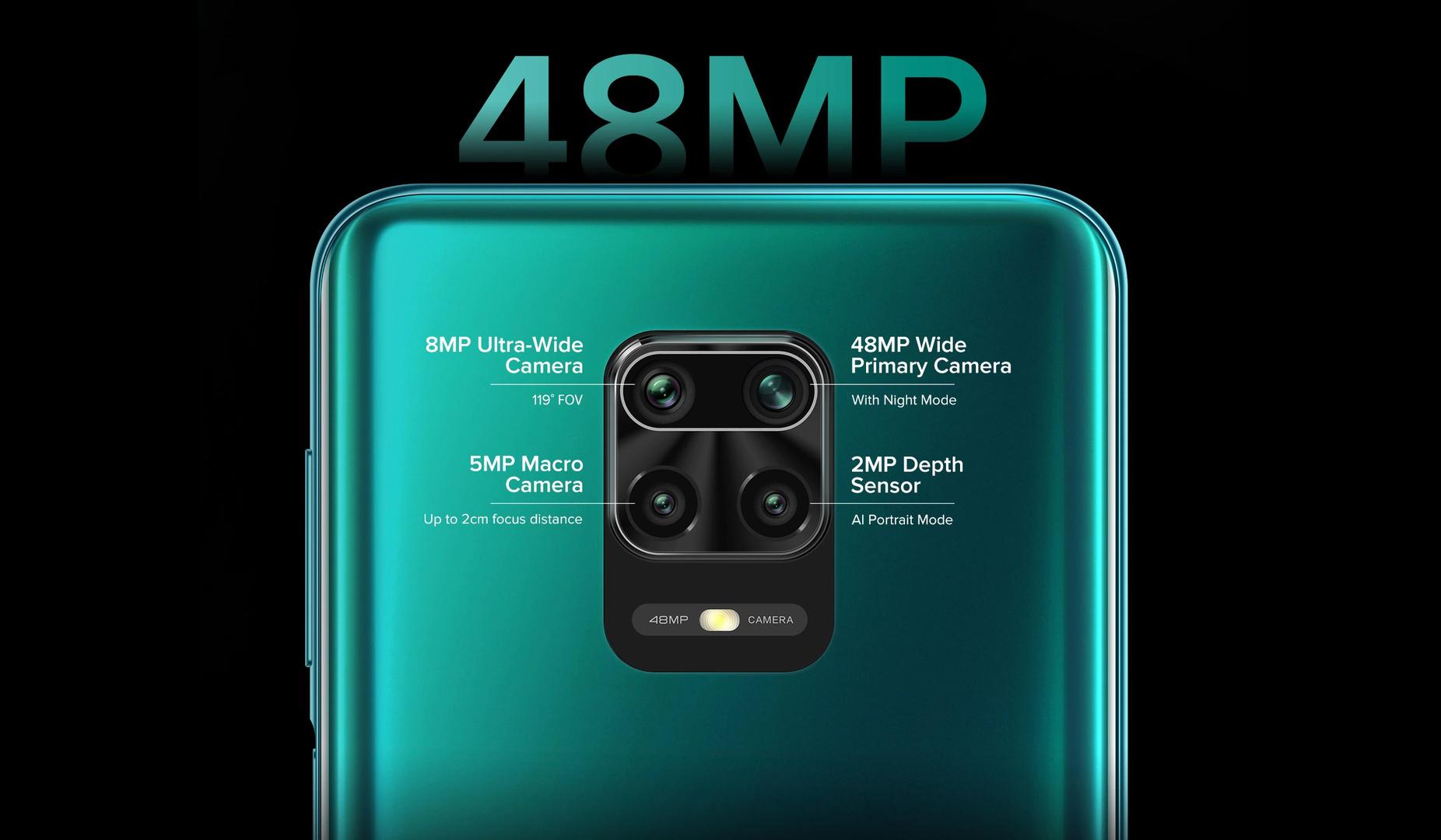Die Quad-Kamera mit 48 Megapixeln und AI-Unterstützung