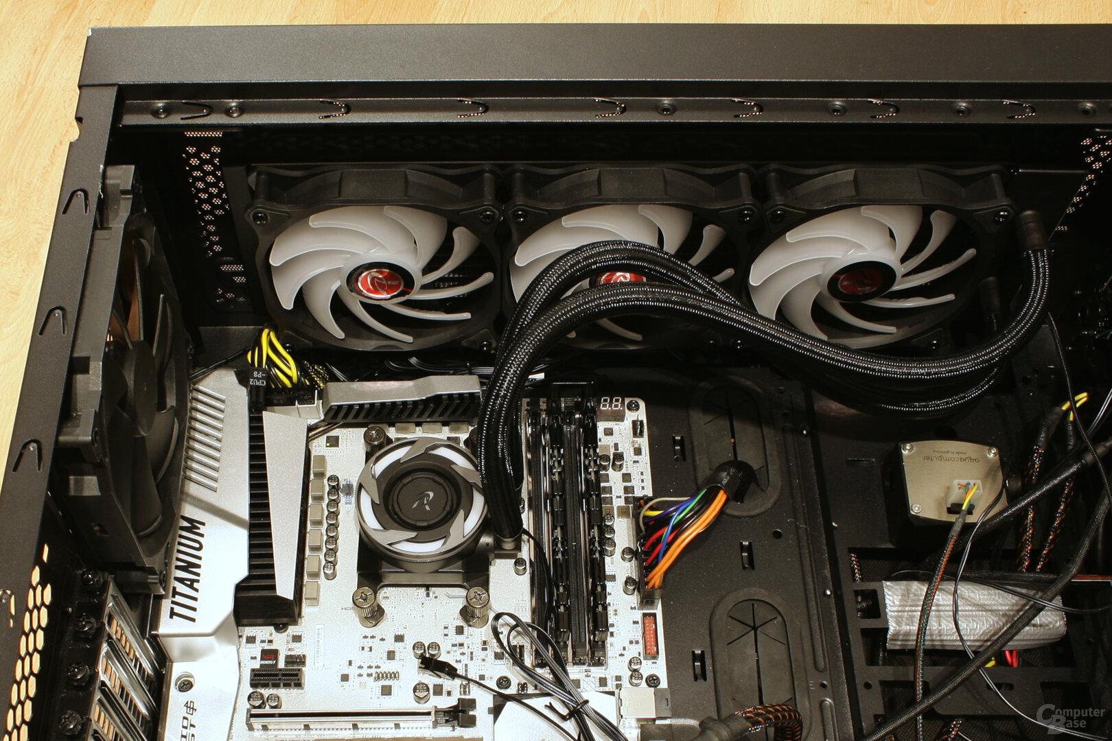 Raijintek EOS 360 RBW im Testsystem