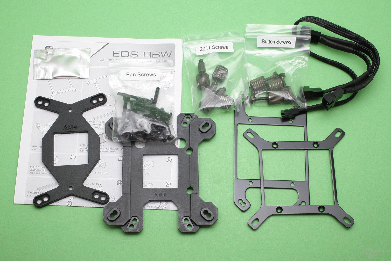 Raijintek EOS 360 RBW: Lieferumfang